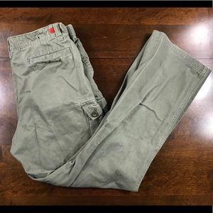 Express Men's 34x34 Green Cargo Pants